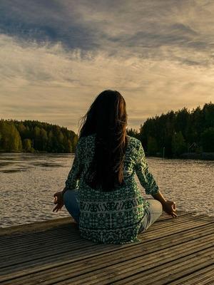 Yoga am See im Wassbad