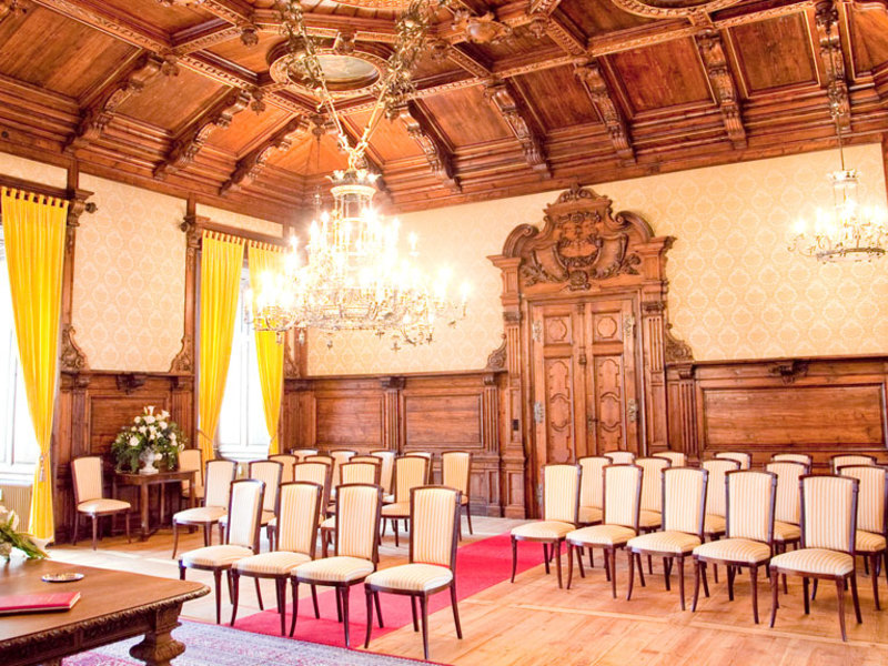 Gästeehrung im Schloss Mondsee