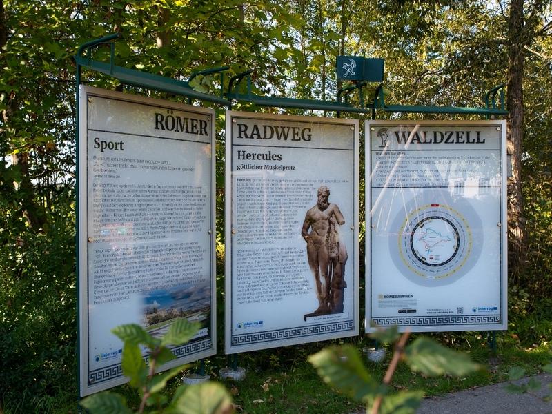 Römerradweg Rastplatz in Waldzell