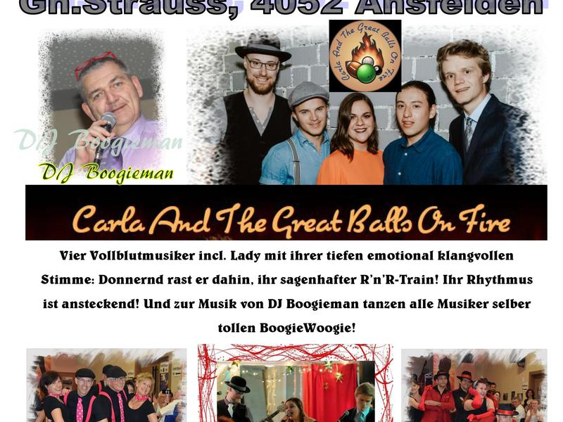 Rock'n'Roll Ball mit Carla and the great balls on fire