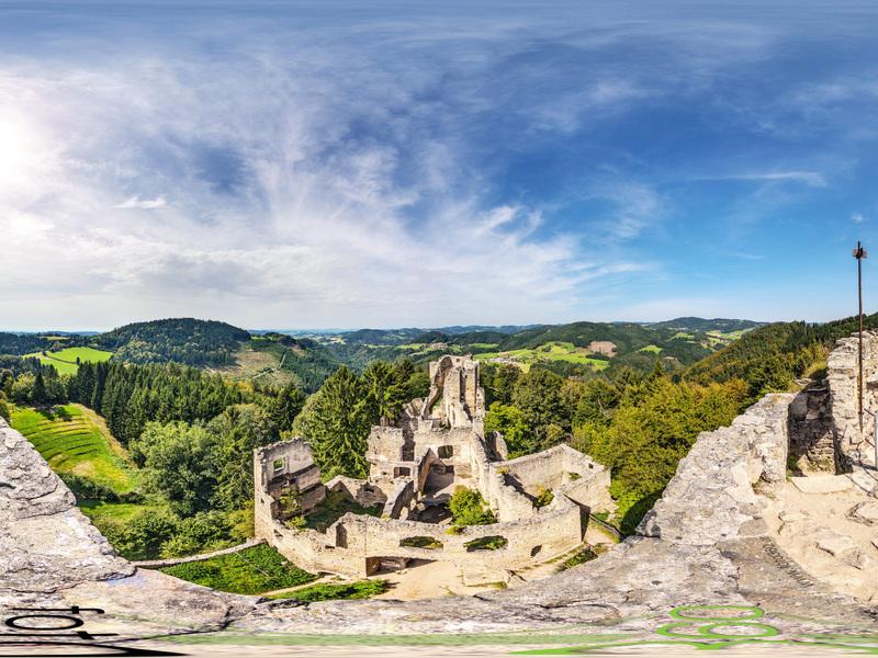 Ruine Prandegg 360° Blick
