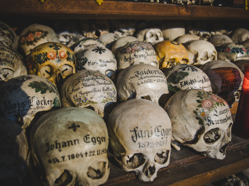 In the bone house of Hallstatt you Can find about 1200 skulls.