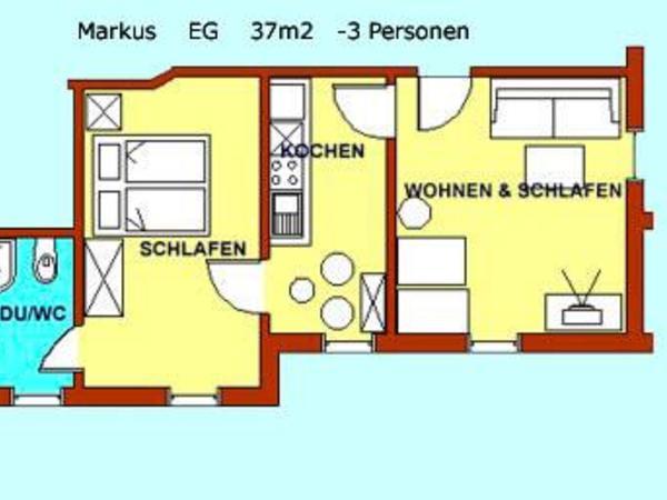 Grundriss App. Markus