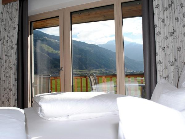 Ausblick Ferienwohnung Schlafzimmer Adlerhorst