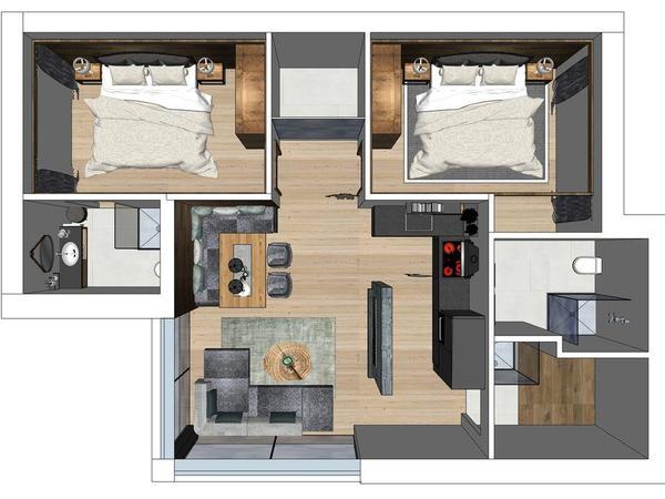 Chalet 3 - 1. Etage