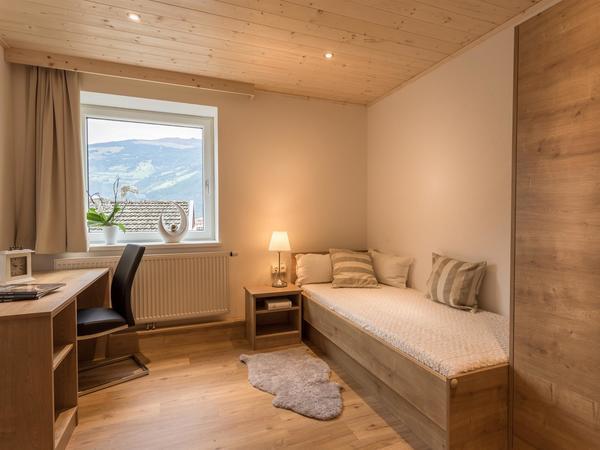 Zwei Einzelbetten- ideal für Familien mit Kindern.
