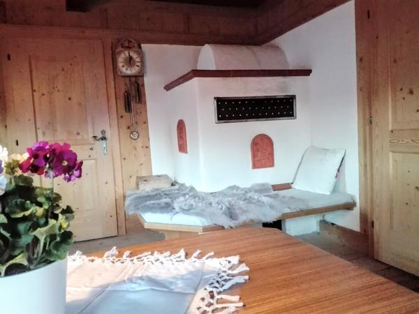 Stube im Ferienhaus Tratl Hütte im Zillertal