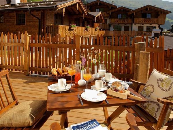 Frühstück auf die Hütte servíert