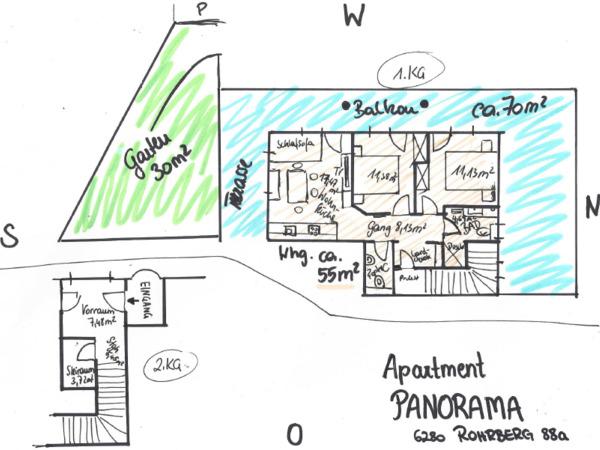 Appartement Panorama - Grundriss