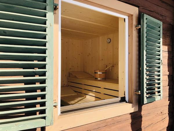Sauna Einblick