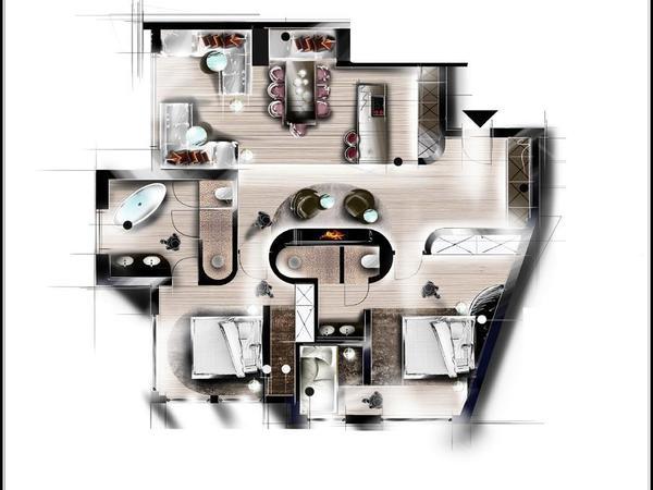 Apartment Kamin Superior