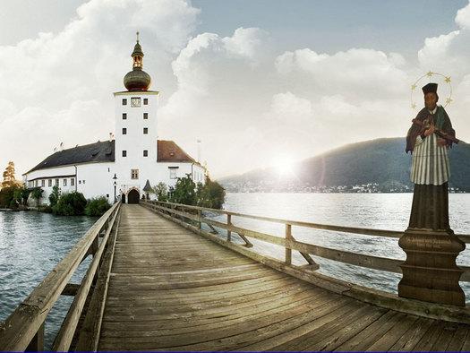 Das Wahrzeichen Seeschloss Ort in Gmunden am Traunsee im Salzkammergut. (© MTV Ferienregion Traunsee)