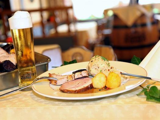 Bratl im Restaurant Bayrischer Hof in Wels