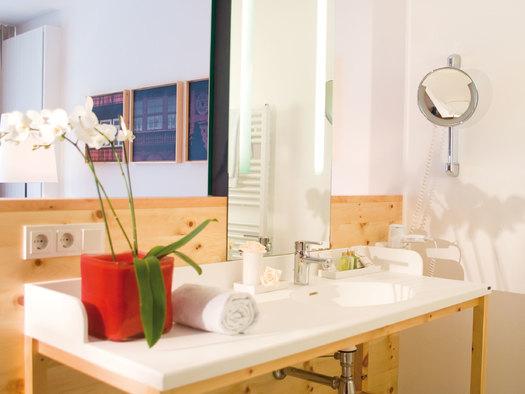 Badezimmer Einzelzimmer (© Villa Seilern Betriebs GmbH, www.villaseilern.at)