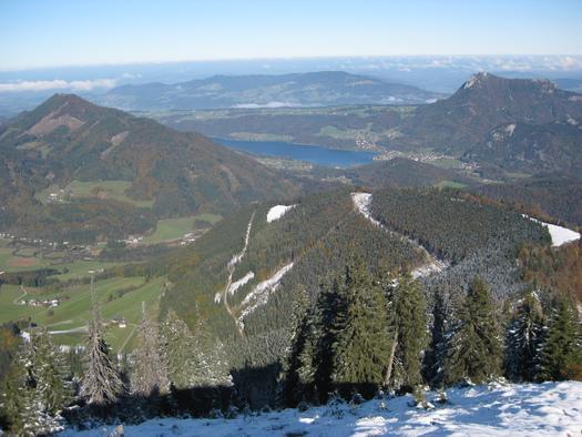 Blick vom Gipfel zum Fuschlsee (© Tourismusverband Faistenau)