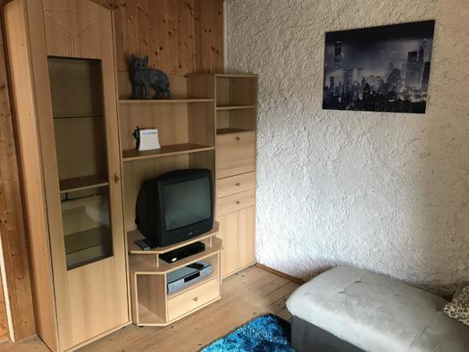 Wohnzimmer mit Sat TV Apartment Hochfichtblick (© Haus Stadlau)