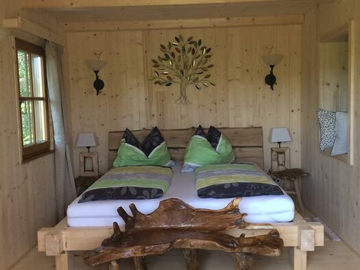 Buchen-Hütte Schlafzimmer