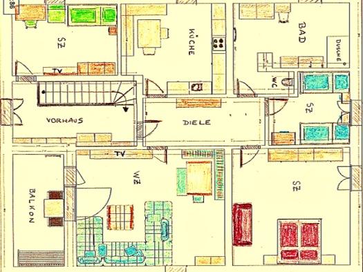 Fewo: GRUNDRISS - 1. Stock (Dachgeschoss) (© Schweitzer Josef)