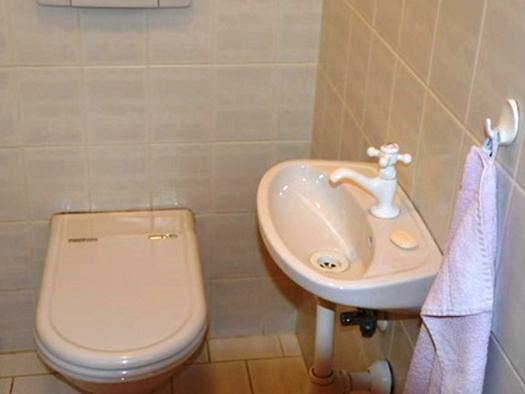 Toilette, mit Waschbecken. (© Pöllmann)