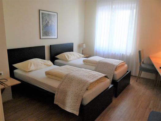 Doppelzimmer Pension Dorfcafe (© Wels Marketing & Touristik)