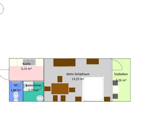 Map of apartment A (© Edith Löger)