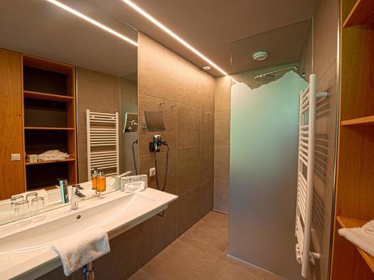 Badezimmer mit Regenbrause