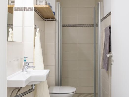 Hopfen Bad mit Dusche und WC (© Gästehaus In da Wiesn)
