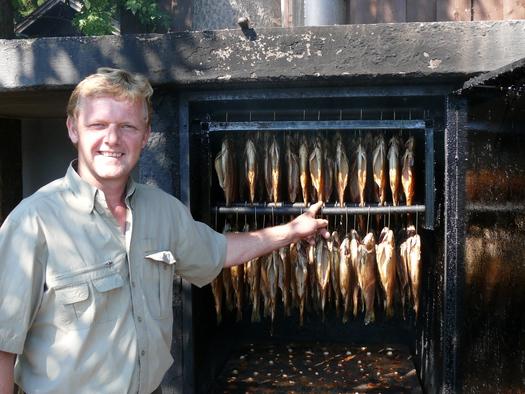 Geräucherte Saiblinge in der Schlossfischerei