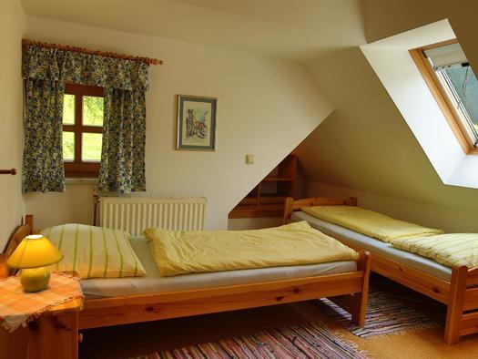 Betten im Apartment Siegfried (© Gästehof Annerl)