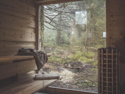 Sauna mit Waldblick (© Ramenai Das Böhmerwaldlerdorf)
