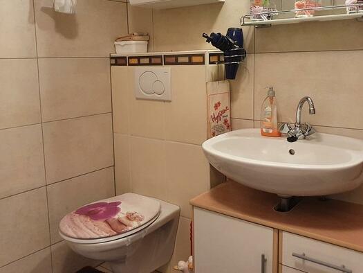 Badezimmer mit WC (© Ferienwohnung Mariandl | Maria Felhofer)