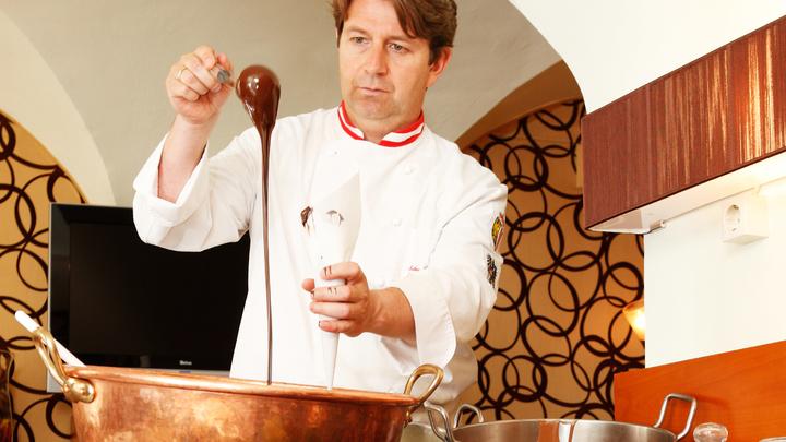 Zu Gast beim Schokolade- und Käse Weltmeister (© K. Mitterhauser)