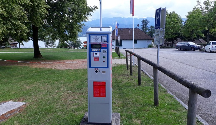Parkplatz Erlebnisbad Parkautomat
