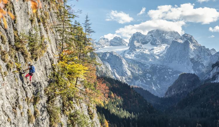 Immer wider eröffnet sich das traumhafte Panorama des Dachsteins. (© Rudi Kain Photografie)