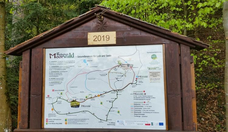 Übersichtstafel Start Erlebnisweg Moorwald (© TV Mühlviertler Hochland)