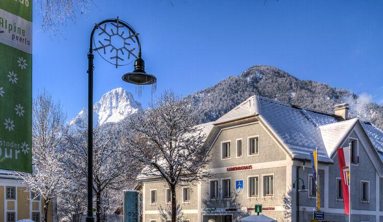 Hinterstoder Winter Gemeindehaus (© TVB Pyhrn-Priel/Bruno Sulzbacher)