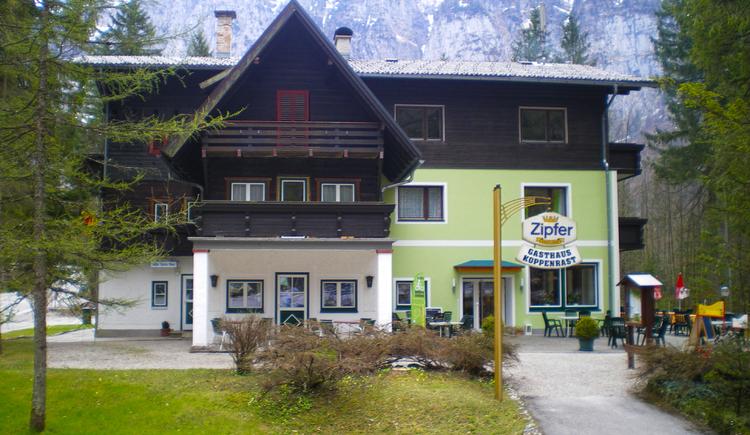 Das Bild zeigt die Ansicht vom Gasthaus Koppenrast. (© Gasthaus Koppenrast)