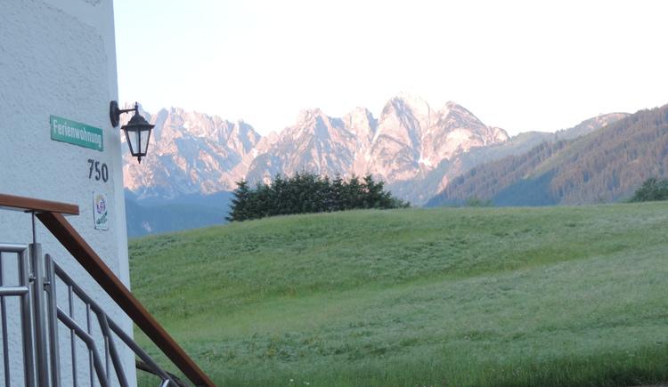 Unser Haus bietet ein einzigartiges Bergpanorama. (© Hubner Hans)