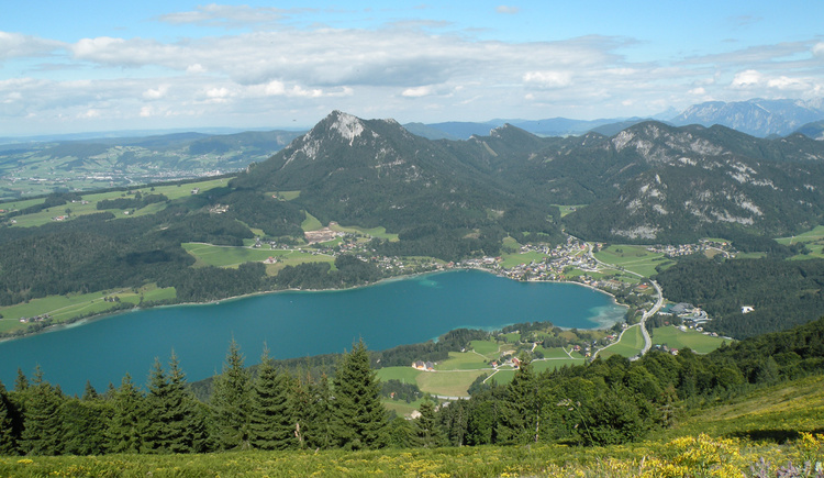 View to the lake Fuschlsee (© Tourismusverband Faistenau)