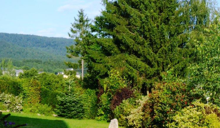 Garten mit Blick auf den Böhmerwald (© Privat)