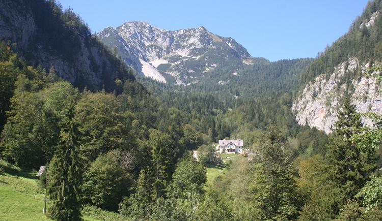 High valley of Hallstatt on the Salt Mountain