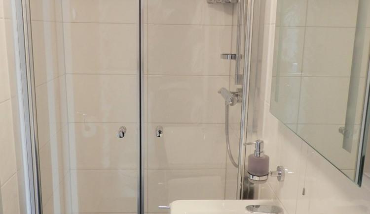 Ferienwohnung 1 - Badezimmer. (© Landhaus Osborne)