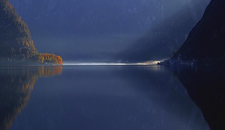 Beautiful mood at Lake Hallstatt.