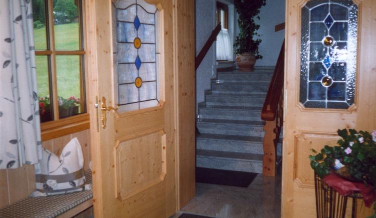 Hier sieht man den Eingang zum Haus Klammer. (© Klammer)