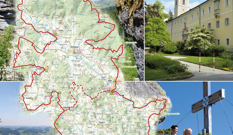 Übersichtskarte Weg der Entschleunigung (© Ferienregion Böhmerwald)