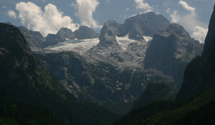 View from Gosausee to the Dachstein glacier.