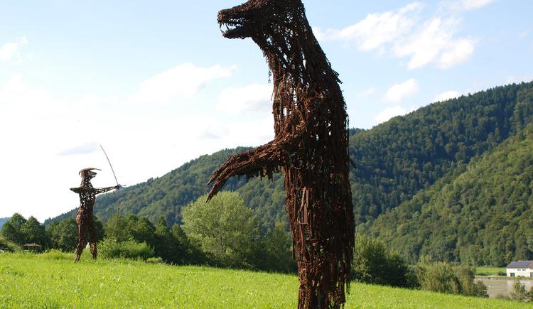 ein Bär im Skulpturenpark (© Familie Fahrner)
