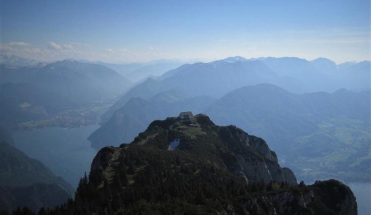 Das einzigartige Gipfelpanorama von der Gmundner Hütte (© www.bergsteigen.com)