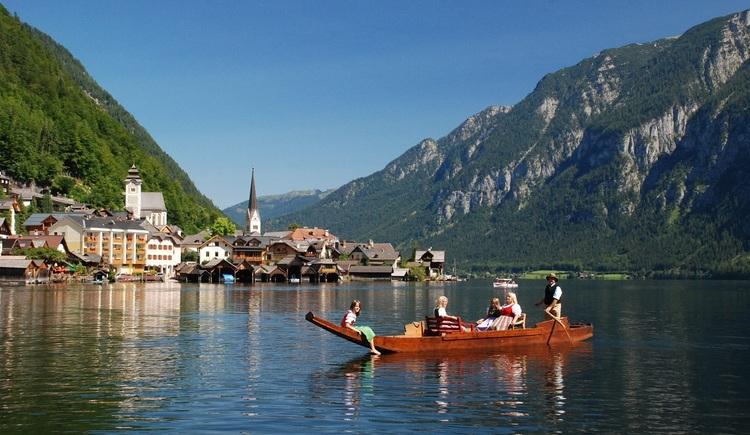 Locals still use traditional carry boats on Lake Hallstatt.