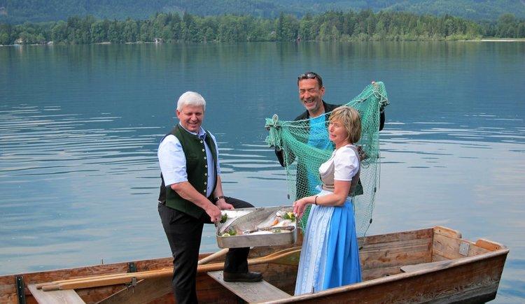 Fischerei Wolfgangsee mit Hubert von Goisern. (© WTG)
